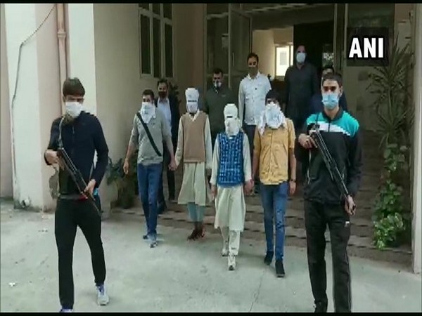 Two suspected terrorists - residents of Jammu and Kashmir - were arrested last night by Delhi Police Special Cell (Photo/ANI)
