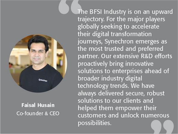 Synechron paves the road for BFSI industry's progressive journey through innovation & digital transformation