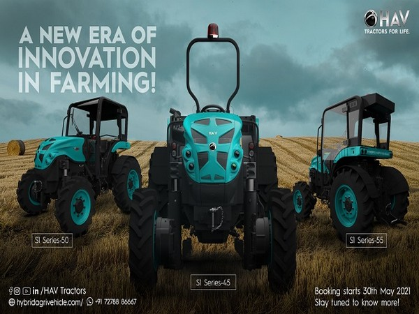 India's First Fully Automatic Hybrid Tractor launched with no battery packs - HAV Tractors Series S1