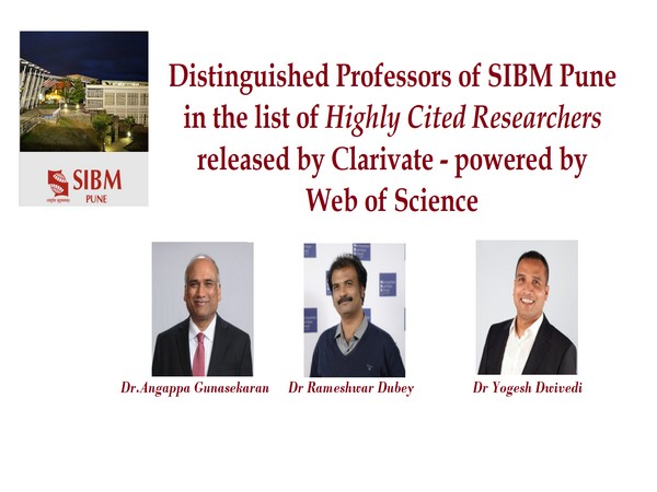 Distinguished Professors of SIBM Pune in the list of highly cited researchers released by Clarivate- powered by Web of Science