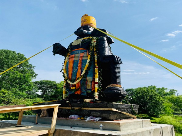 US' tallest Hanuman statue that was installed on Monday in the city of Hockenssin.