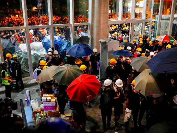 Hong Kong government building a 'big crime scene' after night of violent protests