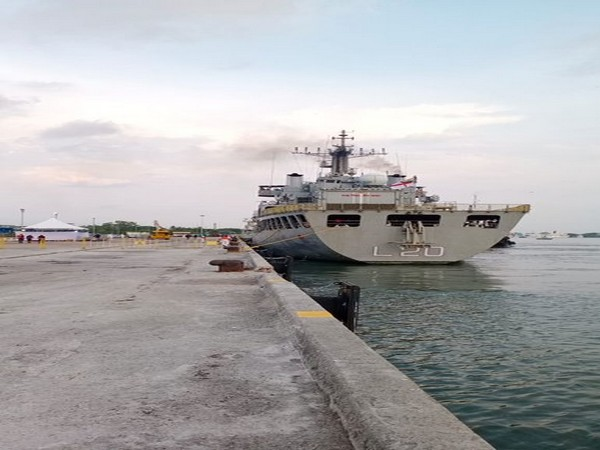 Operation Samudra Setu: INS Magar, carrying 202 Indian nationals, enters Kochi harbour