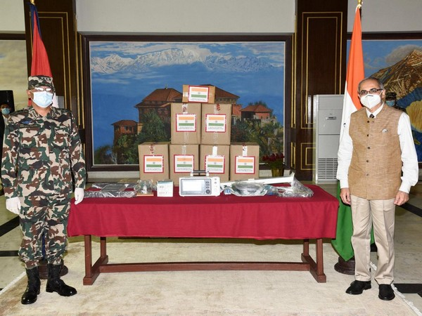 India handing over the ventilators to Nepal. (Indian Embassy in Nepal twitter)
