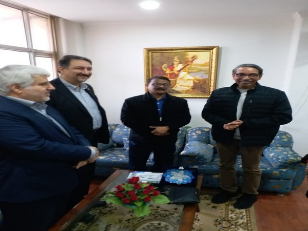 An Iranian delegation with JNU's Vice-Chancellor M Jagadesh Kumar at JNU, New Delhi on Tuesday