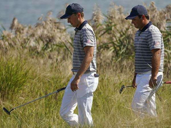 Jordan Spieth and Patrick Reed hug it out at Torrey Pines, 'still really good friends'