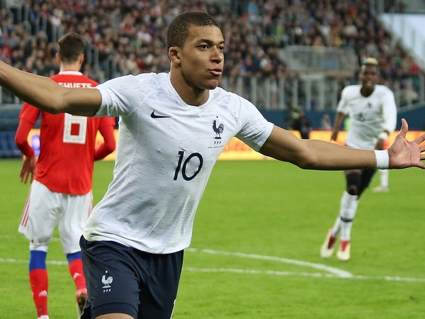 French football player Kylian Mbappe