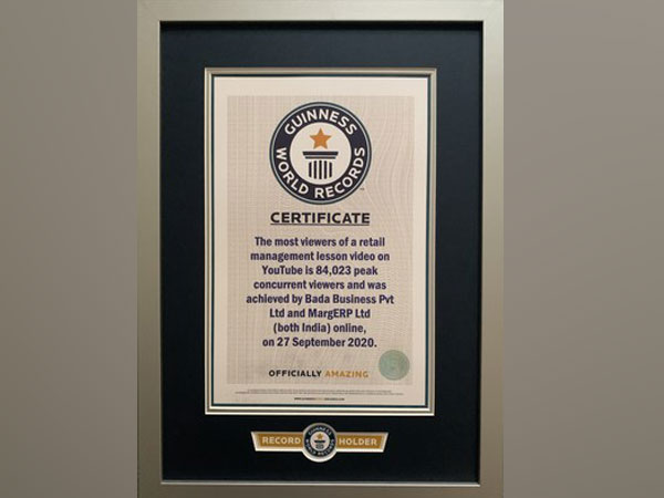 MARG ERP Limited awarded Guinness World Record holder; largest online business webinar broke all world records