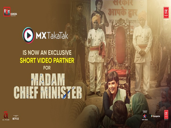 MX TakaTak collaborates with movies- Madam Chief Minister, Red, Eeswaran as short video partner