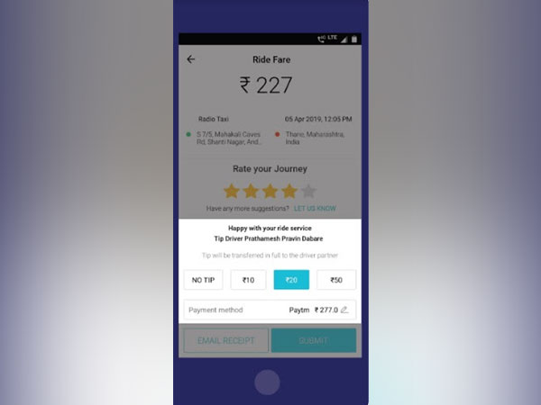 Meru pioneers digital tipping in the mobility sector