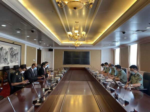 Indian and Chinese officials holding meeting to discuss situation in eastern Ladakh. (Photo credit: India in Embassy twitter)