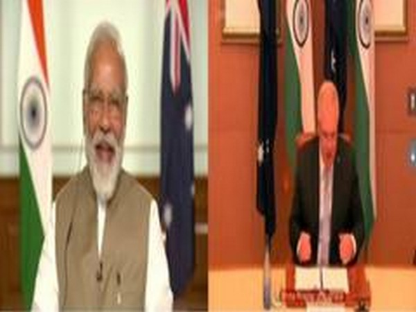 Prime Minister Narendra Modi and his Aussie counterpart Scott Morrison