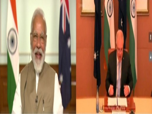 Prime Minister Narendra Modi and Australian counterpart Scott Morrison at the virtual India-Australia summit