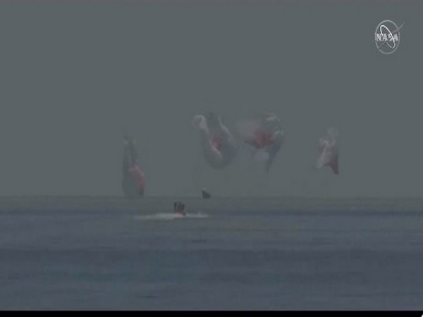 SpaceX capsule with two NASA astronauts made splashdown in Gulf of Mexico (Picture Credit: NASA)