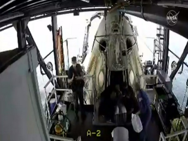 SpaceX capsule has been opened and NASA astronauts have been brought out of spacecraft (Picture credit: NASA)