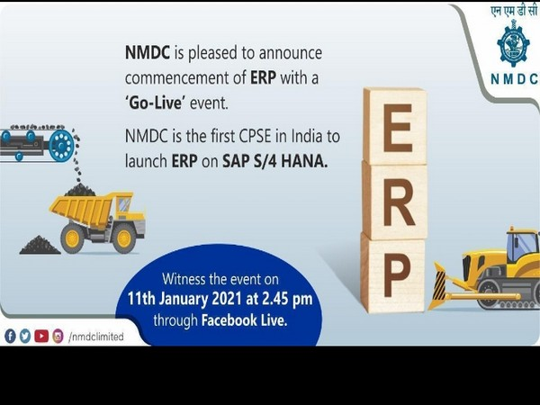 NMDC to launch their ERP on SAP S/4 HANA on 11th Jan 2021