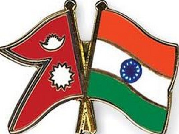 Nepal and Indian flags