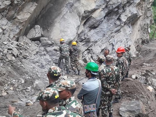 A 'section plus' unit of Nepal Army near Ghantibagar of Darchula district