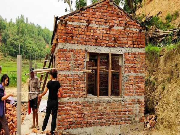 Reconstruction work under Nepal Housing Reconstruction Project. Photo/ANI