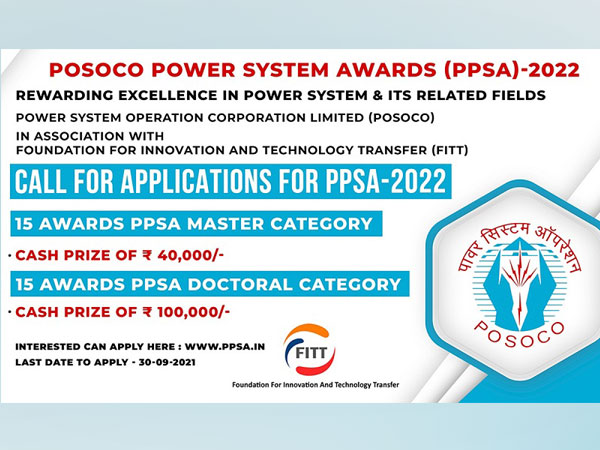 Applications invited for POSOCO Power System Awards - 2022