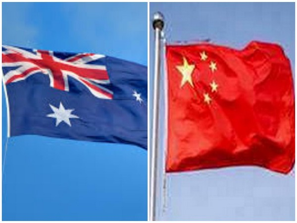 Australian and Chinese flags