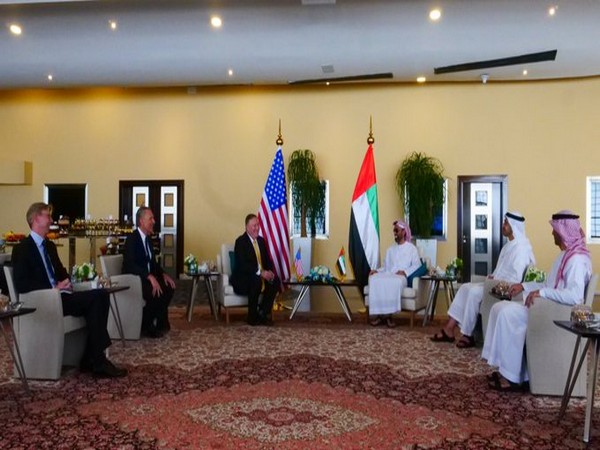 US Secretary of State, Michael Pompeo, met UAE Foreign Minister and National Security Advisor (Picture tweeted by Michael Pompeo)