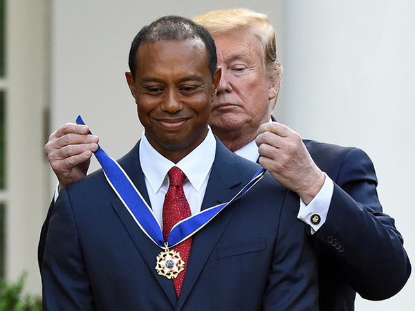 Trump presents 'true legend' Tiger Woods with Presidential Medal of Freedom