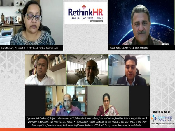 The panelists at ReThink HR Conclave 2021