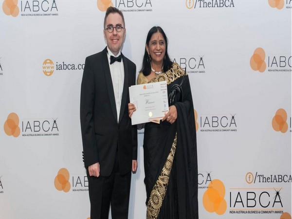 Indian-origin professor Neena Mitter at the 2019 India Australia Business and Community Awards (IABCA) in Brisbane. (Photo Credits: TIQ Twitter)