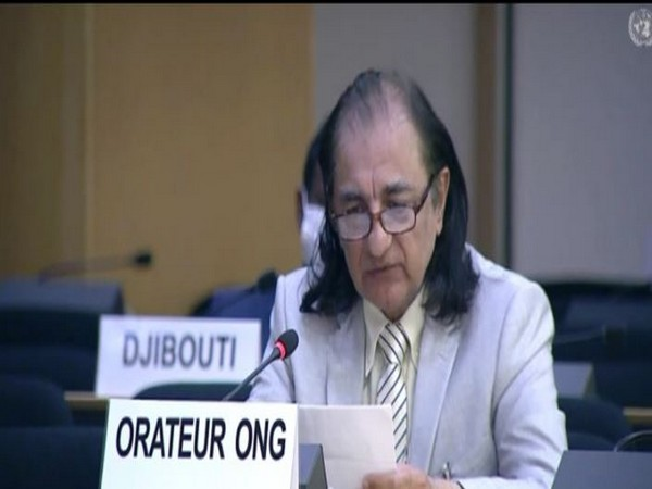 Dr. Amjad Ayub Mirza during the 45th Session of the UN Human Rights Council in Geneva