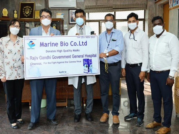 Marine Bio Donates High-End Protective Masks to Rajiv Gandhi Government General Hospital