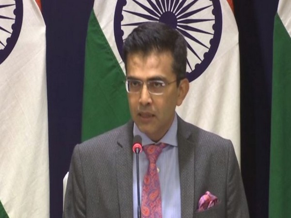 MEA spokesperson Raveesh Kumar addressing a press conference in New Delhi on Thursday. Photo/ANI