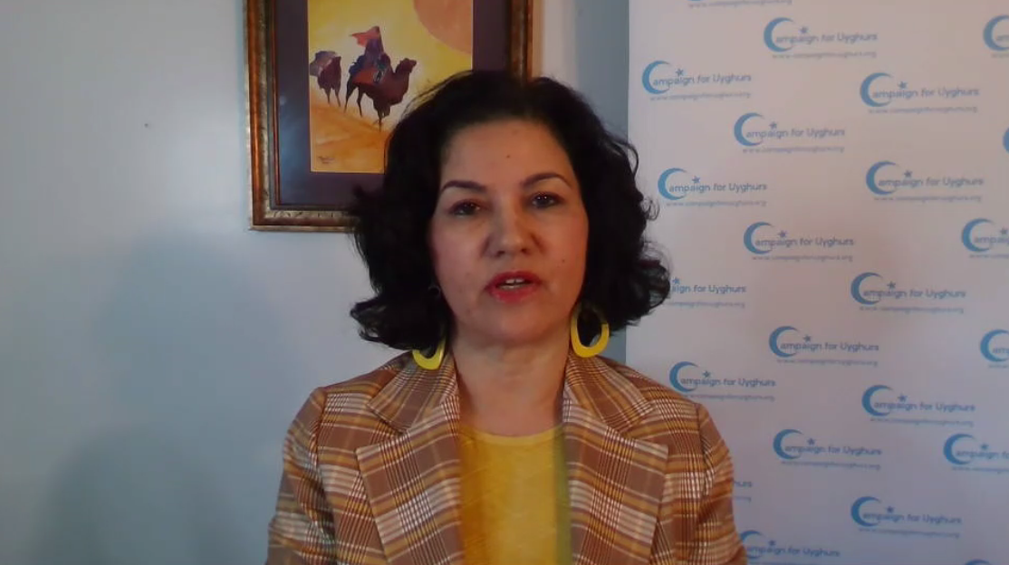 Rushan Abbas, founder and executive director of the nonprofit, Campaign for Uyghurs
