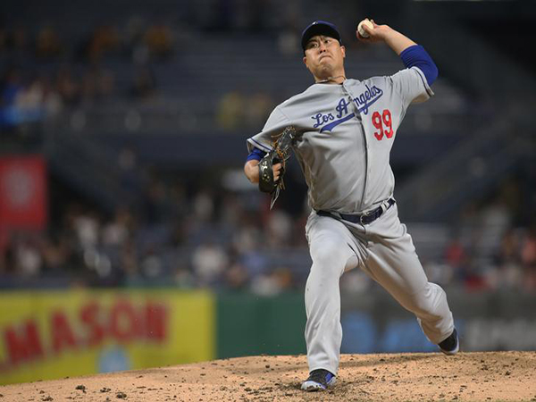 Dodgers' Ryu Hyun-jin wins 7th game of '19, has scoreless streak snapped at 32 innings
