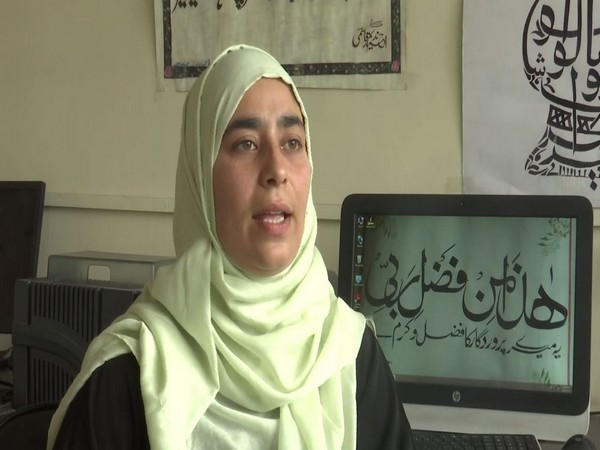 Kashmiri girl wants to preserve traditional Urdu calligraphy art