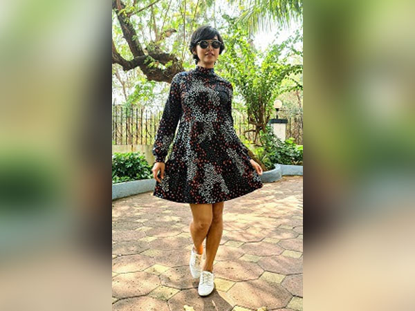 Spotted - Sayani Gupta twirling in the latest M&S Spring Collection Jersey Dress