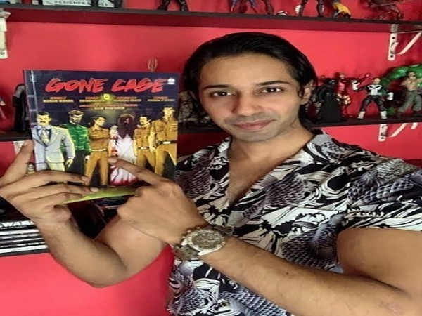 Shiv Panniker with his Anime Comic Book - Gone Case