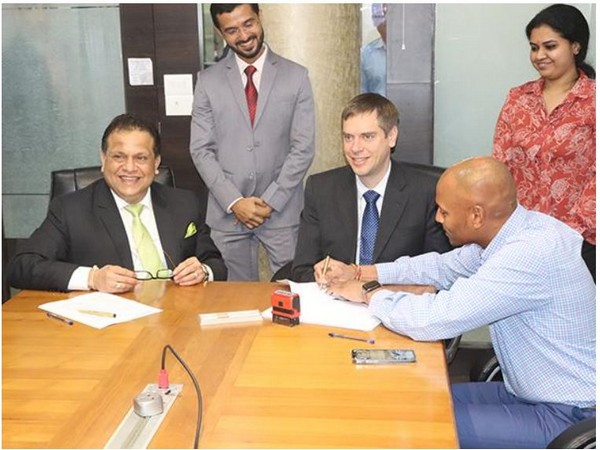 Sitting (L to R) - Shekhar Sardessai, Managing Director of Kineco, Mikko Rummukainen, SVP-Business Development, Exel Composites and Aditya Reddy, Chairman, Kineco.
