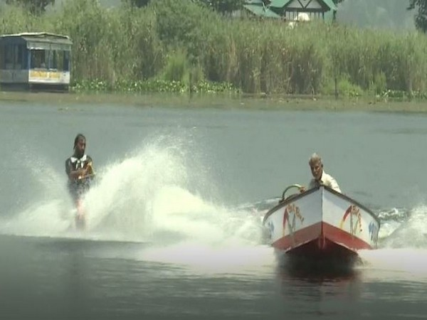 First water skiing instructor in Kashmir imparts professional training to youth in Dal Lake