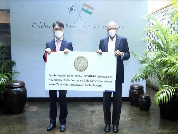 Consul General of the Republic of Korea and Venu Srinivasan, commemorate National Foundation Day with community connect initiative