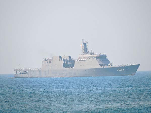 Sri Lanka Navy ship Sayurala leaves for Pakistan to take part in multi-nation naval exercise AMAN 2019