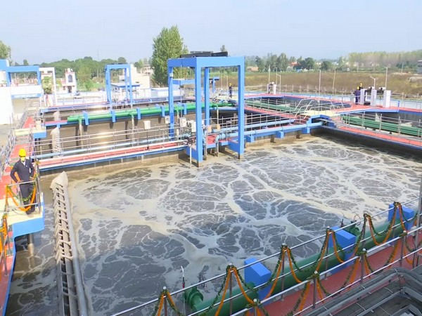 The 14 MLD Sewage Treatment Plant (STP) inaugurated in Sarai, Haridwar on Thursday.