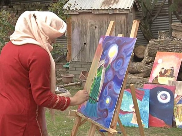 Female Sufi painter from J-K inspires people to use art as therapy