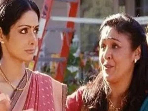 Sujata Kumar with Sridevi in a scene from 'English Vinglish'