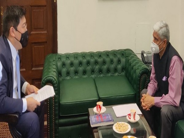 Vikas Swarup meets Ambassador of Kazakhstan, takes stock of ongoing cooperation activities