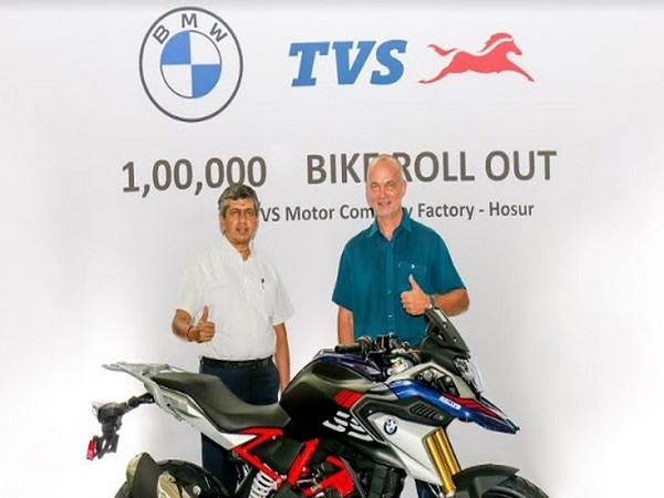 TVS Motor Company rolls out the 100,000 unit of the BMW 310cc series motorcycle from Hosur Facility