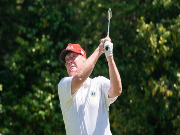 US President Donald Trump golfing (File pic)
