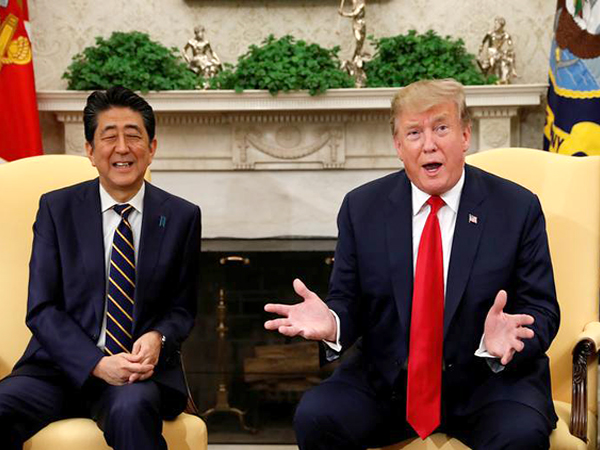 Abe: Trump promises cooperation on abduction issue