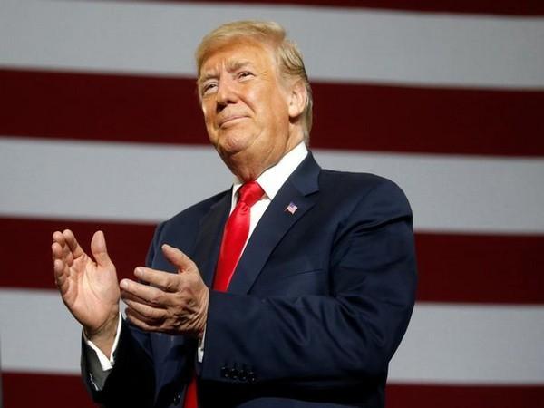 Pro-Trump New York artist erects 20-foot-tall likeness of president on lawn