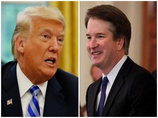 US President Donald Trump, US SC Judge Nominee Brett Kavanaugh